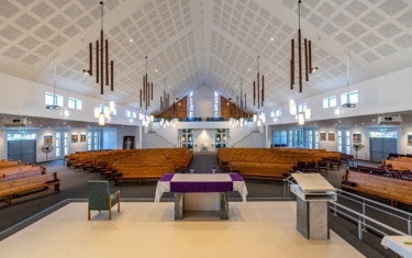 Finished interior of Catholic Diocese of Auckland – Holy Cross Church Redevelopment