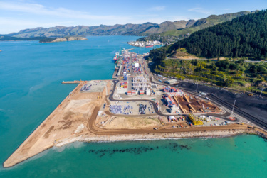 View of Lyttelton Port Company Land Reclamation area
