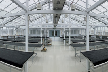 interior view of completed Grasslands Glasshouses